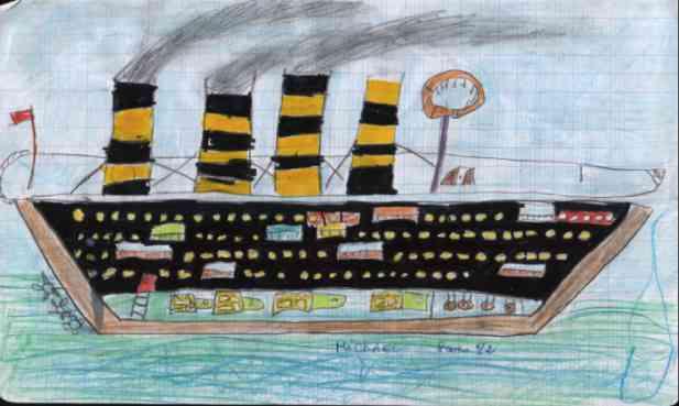 Titanic Suite Dessin D Un Enfant